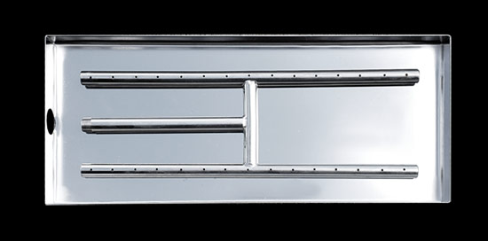 Stainless Steel H-Burner with Pan