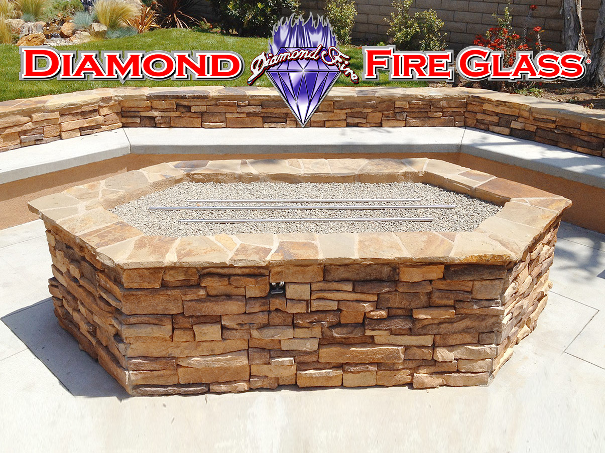FIRE PIT INSTALLATION EXAMPLE 2: - Images Of Fire Pits And Fireplaces With Fire Glass By Diamond Fire Glass