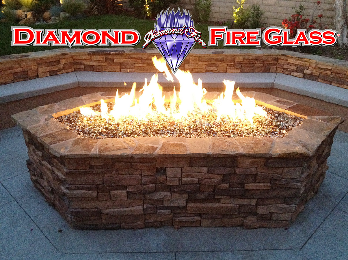 FIRE PIT INSTALLATION EXAMPLE 3: - Images Of Fire Pits And Fireplaces With Fire Glass By Diamond Fire Glass