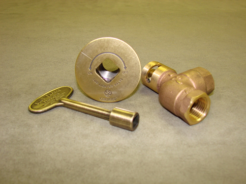 Manual Angled Antique Brass Ball Valve