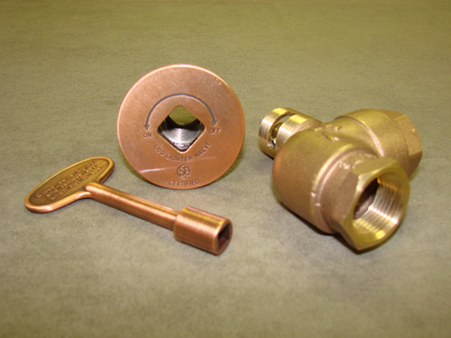 "Manual Angled Antique Copper Ball Valve (High Capacity 3/4"")"