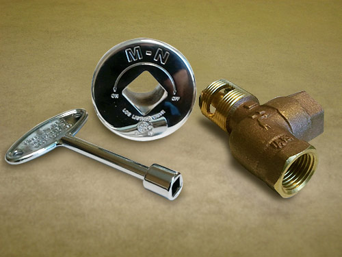 Manual Gas Valves & Accessories - Diamond Fire Glass