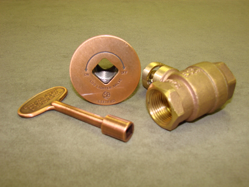 "Manual Straight Antique Copper Ball Valve (High Capacity 3/4"")"