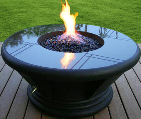 (Click here if you have propane) - Diamond Fire Glass - Decorative Alternative To Fireplace Logs