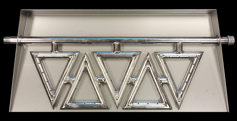 Pan Burners Diamond Fire Glass