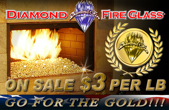 Diamond Fire Glass for Fireplaces and Fire Pits