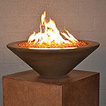 "Geo Round Essex Fire Bowl 31"" D x 10"" H"