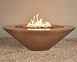 "Geo Round Essex Fire Pit Table 48"" D x 15"" H"