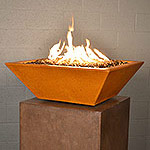 "Geo Square Fire Bowl 30"" x 30"" x 10"" H"