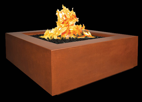 Aura Square Fire Pit Table