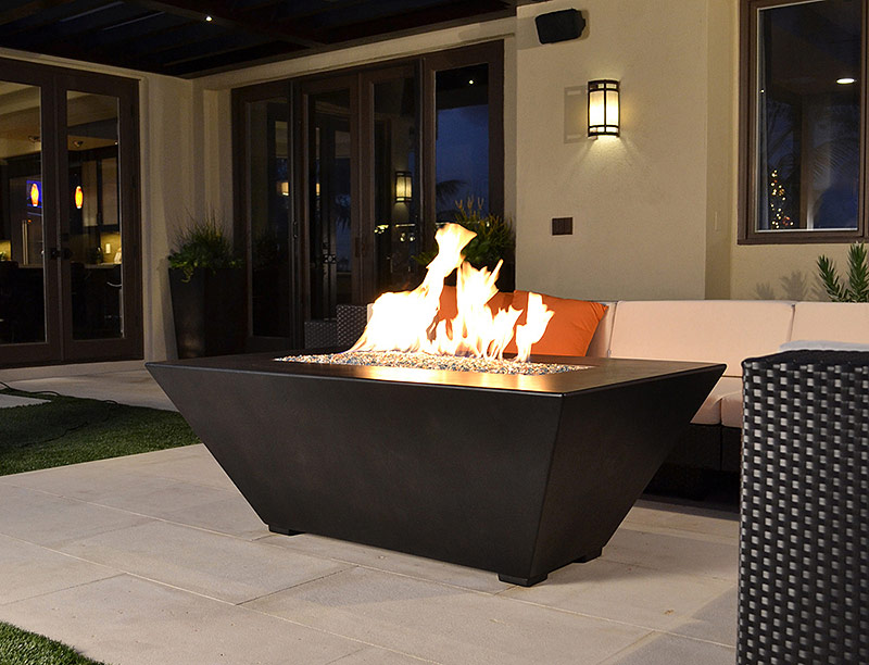 Geo Rectangle Fire Pit Table
