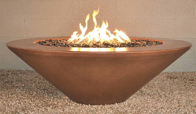 Geo Round Essex Fire Pit Table (Automated System)