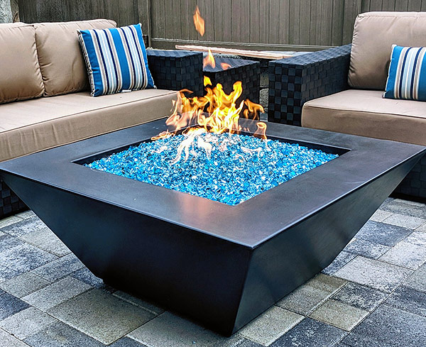 Geo Square Fire Pit Table