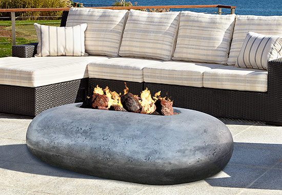 Pebble Beach Fire Pit Table