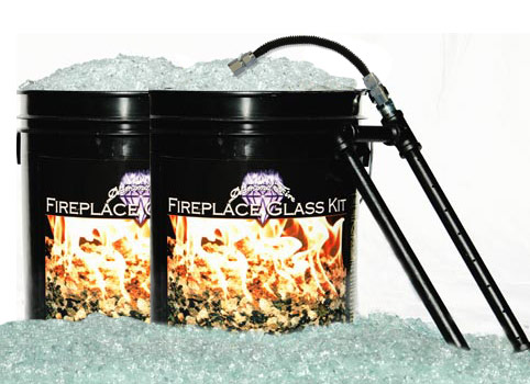 Fireplace Glass Kit - 120 lbs - Do It Yourself Fireplace Kits - Fireplace Glass Kit - 120lbs