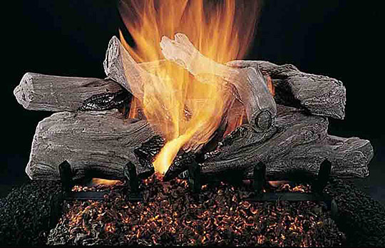 Rasmussen Evening Campfire Log Set  (Single Face)