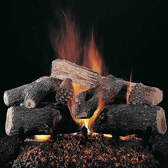 Rasmussen Evening Lone Star Log Set  (Single Face)