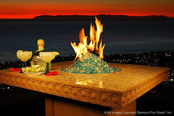 Diamond fire glass fireplace glass a decorative for Alternative fireplaces