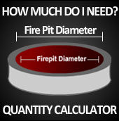 Fire Pit fireplace Glass Calculator - Diamond Fire Glass