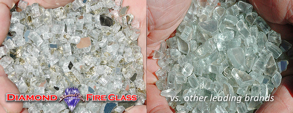 What Fire Pit Glass Is Better? Platinum X Reflective Genuine Diamond Fire Pit Glass ® vs. Other Leading Brand Glass