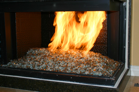 Diamond Fire Glass? Crystals are specially formulated jewel like glass crystals for use in fireplaces