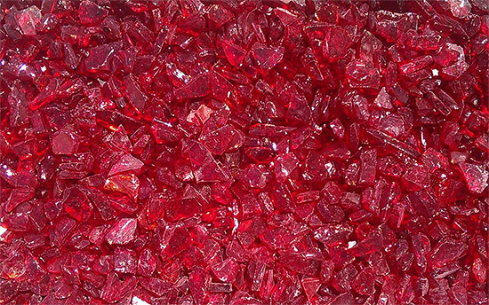 Ruby Red Fireplace Glass Crystals