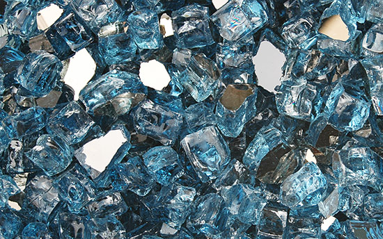 Cobalt Blue Reflective Nugget Fireplace Glass Crystals