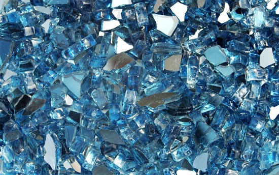 Cobalt Blue Reflective Fireplace Glass Crystals