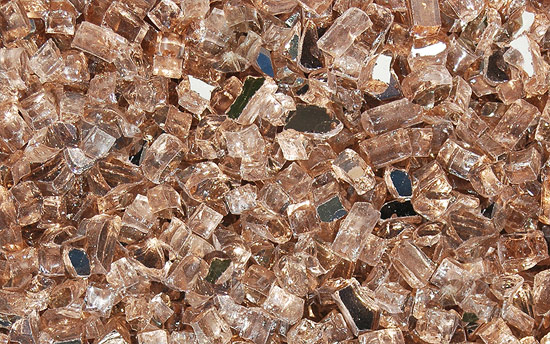 Desert Rose Fireplace Glass Crystals