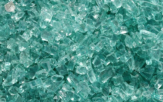 Emerald Green Fireplace Glass Crystals