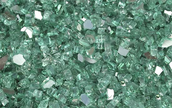 Forest Green 2000 Reflective Fireplace Glass Crystals