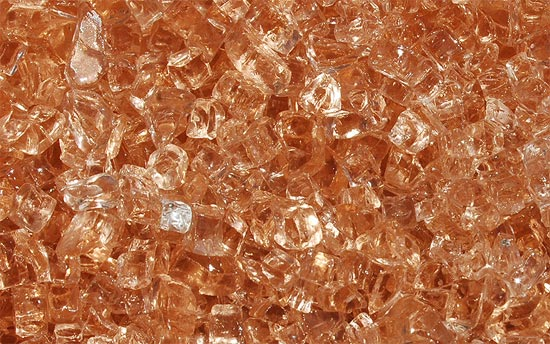 Georgia Peach Fireplace Glass Crystals