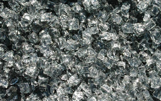 Gray Nugget Fireplace Glass Crystals