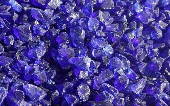 Indigo Fireplace Glass Crystals
