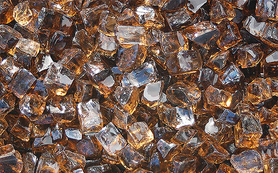 Copper Nugget Fireplace Glass Crystals