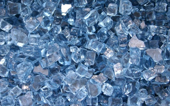 Sapphire Blue Fireplace Glass Crystals