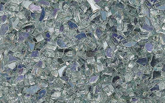 Silver Amethyst Fireplace Glass Crystals
