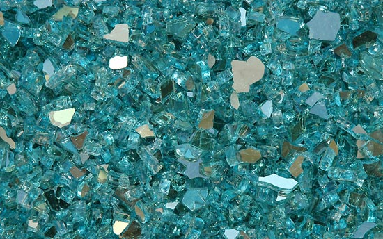 Turquoise Reflective Fireplace Glass Crystals