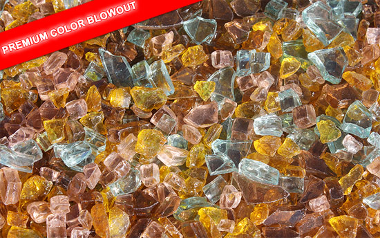 Autumn Premixed Fireplace Glass Crystals