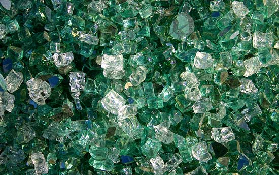 Emerald Premixed Fireplace Glass Crystals