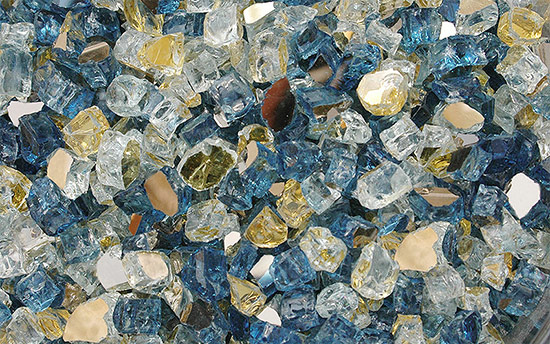 Atlantis Premixed Fireplace Glass Crystals