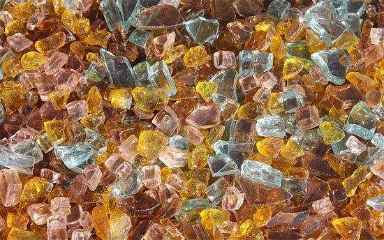 Autumn Premixed Fireplace Glass Crystals Fire Pit Glass Fireplace Glass