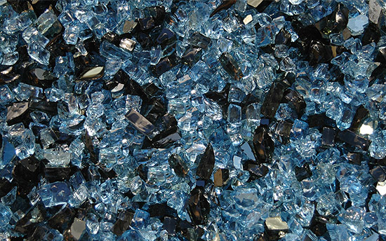 Blue Ocean Eve Premixed Fireplace Glass Crystals