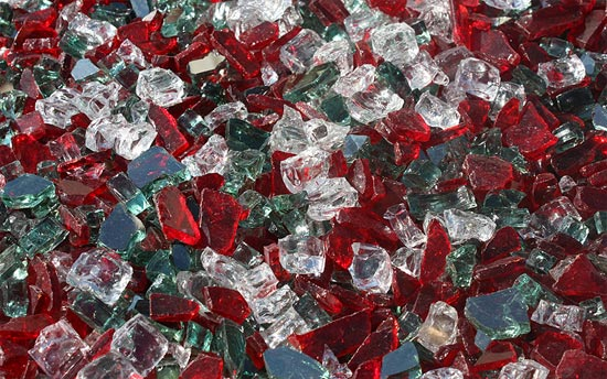 Christmas Jewels Premixed Fireplace Glass Crystals
