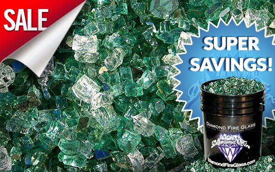 Emerald Bay Premixed Fireplace Glass Crystals