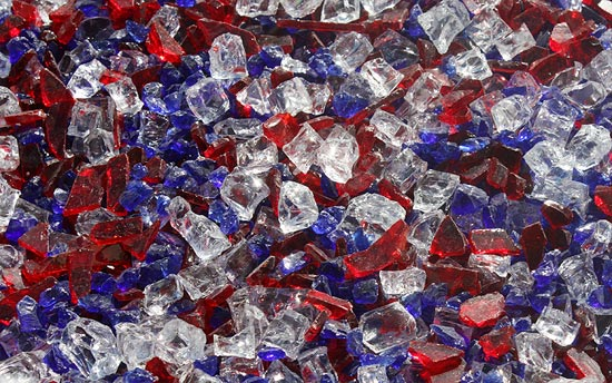 Independance Day Premixed Fireplace Glass Crystals Fire Pit Glass Fireplace Glass