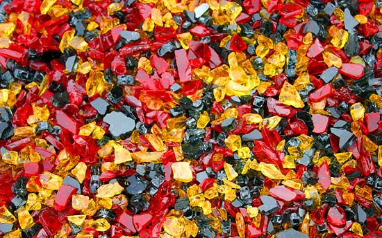 Red Nectar Premixed Fireplace Glass Crystals