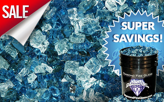 Sapphire Garden Premixed Fireplace Glass Crystals