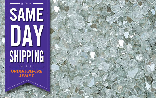 Crystal Cove Premixed Glass Crystals Fire Pit Glass Fireplace Glass