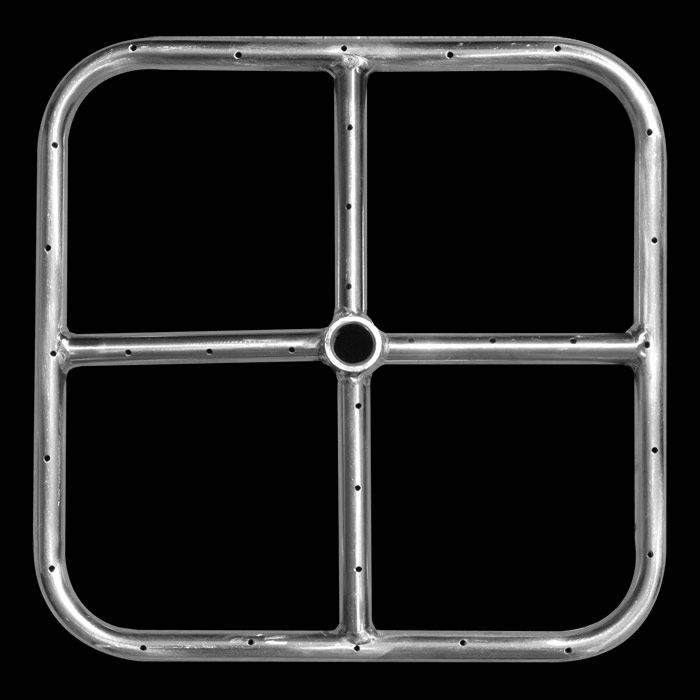 12 and 18 inch Stainless Steel Square Firepit Ring